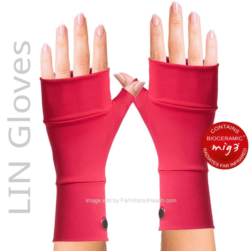 INVEL  MIG3 Bioceramic LIN Arthritis Gloves - Clinically Tested Relieves Pain - Coral
