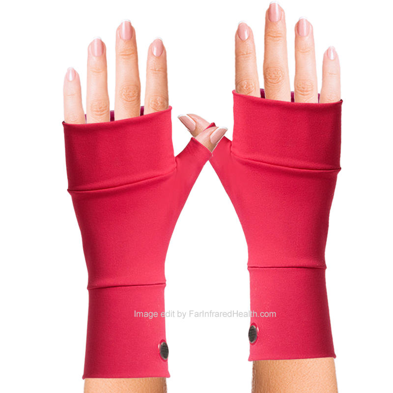 Coral Wrist Gloves for Ganglion Cyst (Bioceramic) No Finger Gloves by Invel