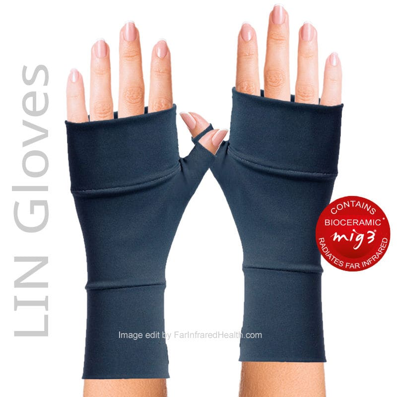 MIG3 Invel Bioceramic LIN Arthritis Gloves - Clinically Tested Relieves Pain -  Navy Blue