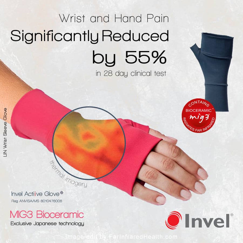 Clinically Tested - Invel Far Infrared Gloves relieve pain