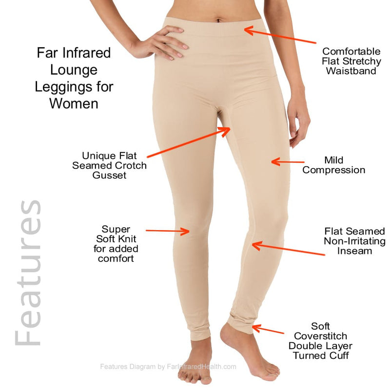 Features of the Ladies Circulation Far Infrared Lounge Leggings Perfect Sport Recovery Wear