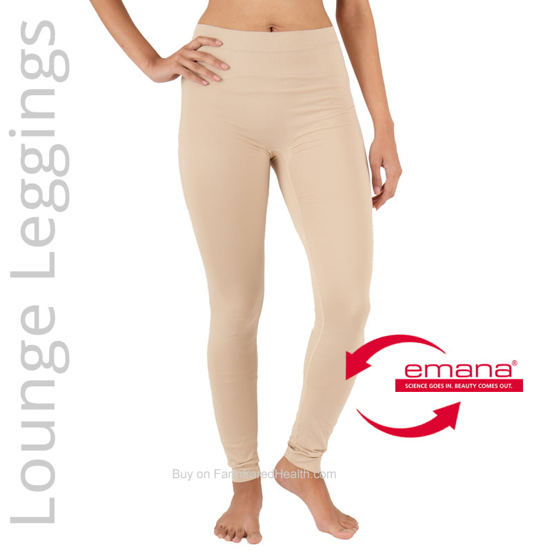 Beige Color Circulation Lounge Leggings for Women - Made with Emana Far Infared Smart Fiber