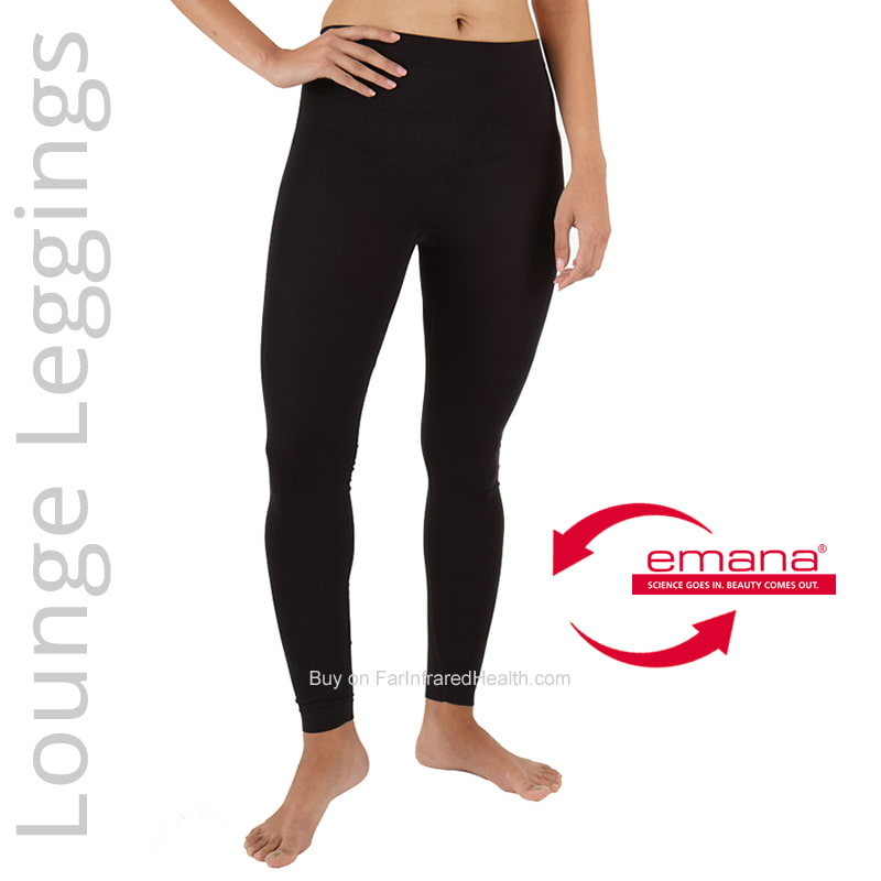 Black Far Infrared Circulation Lounge Leggings for Women