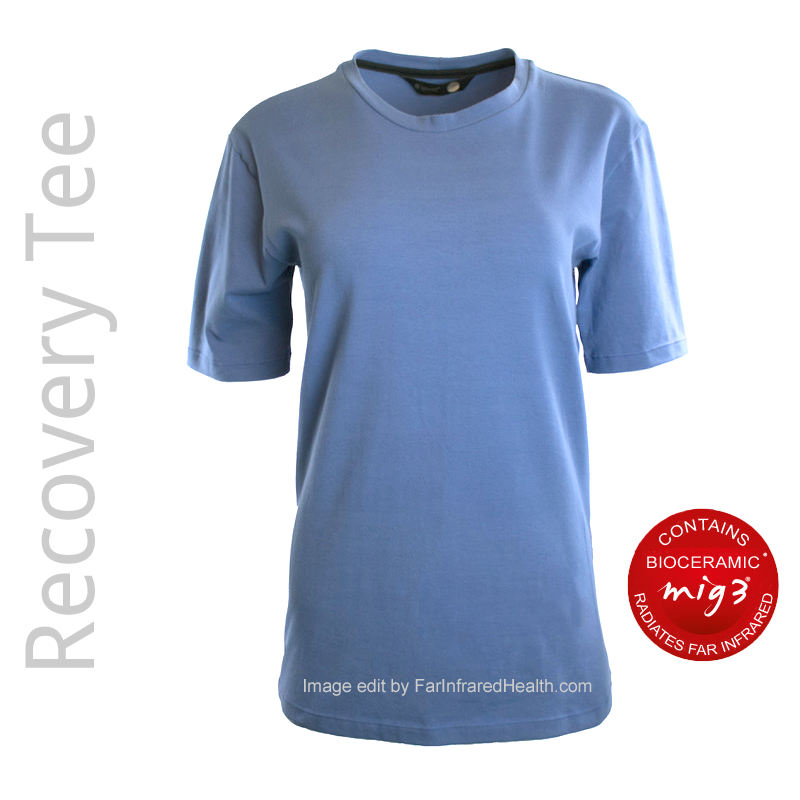 Crew Neck Pajama Tee for Men, Short Sleeve T-Shirt for Athlete Recovery