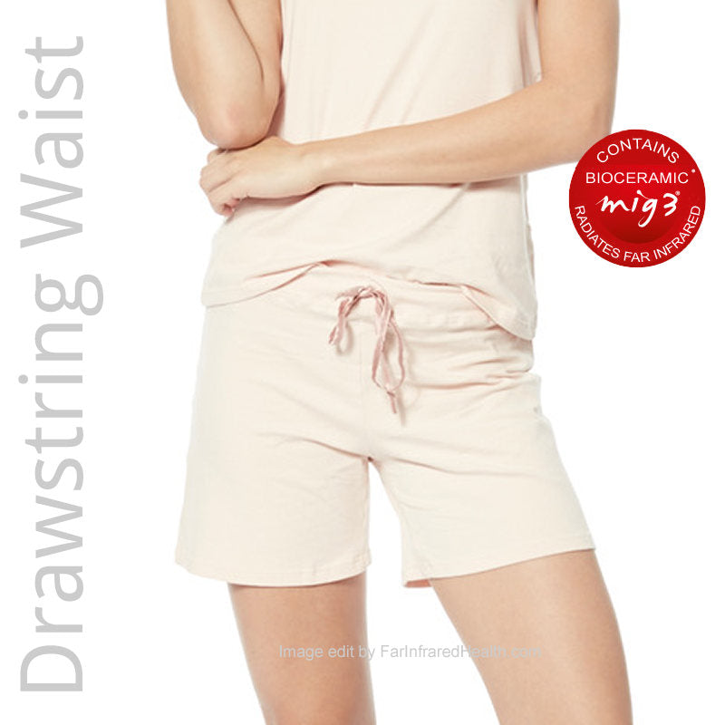 Pajama Shorts Infrared Recovery Sleepwear for Women - Drawstring Waist Te