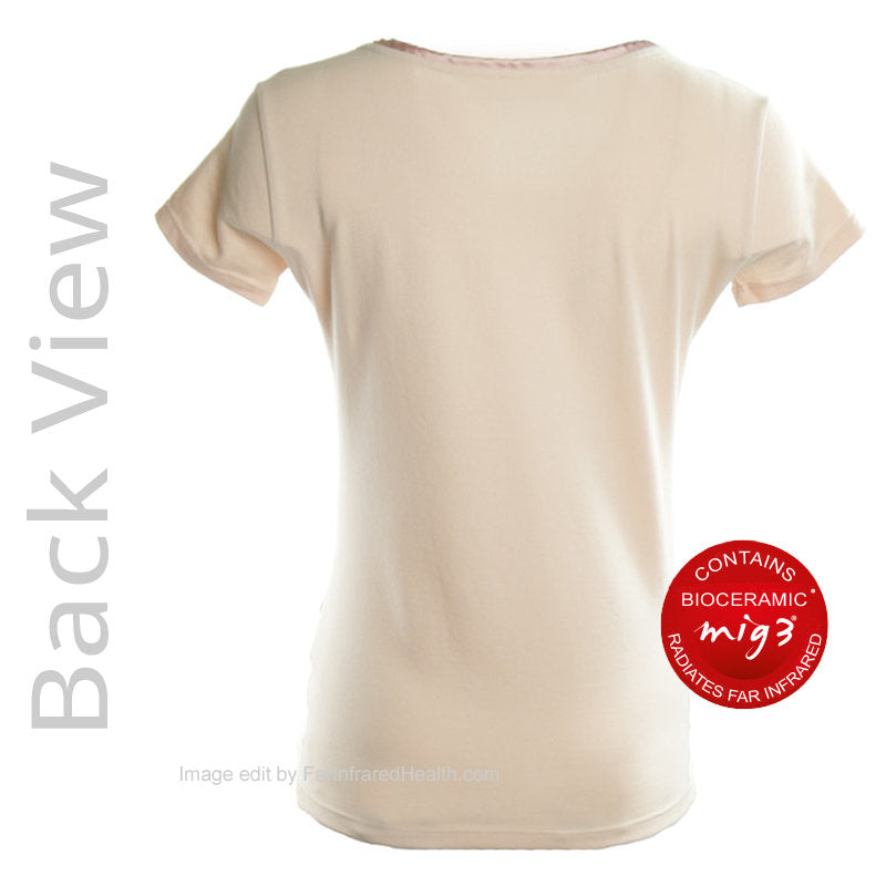 Bioceramic Pajama Top Recovery Sleepwear - Women (Back View) - Infrared Night Shirts for me