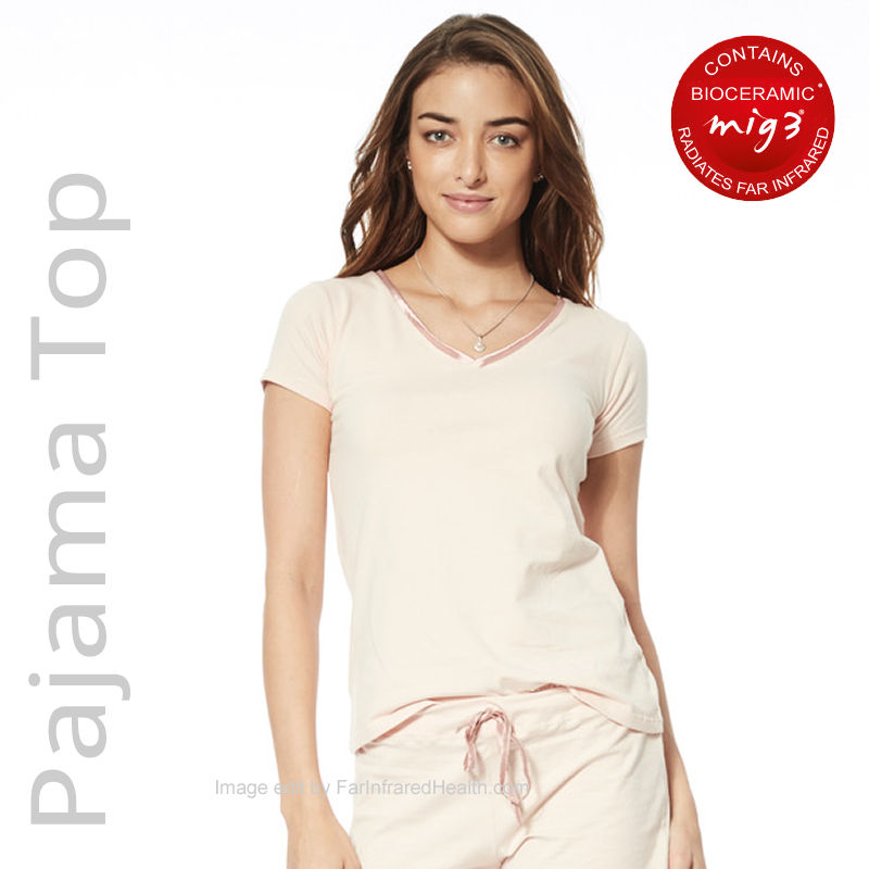 Ladies Far Infrared Pajama Top - Where To Buy Infrared Sleepwear