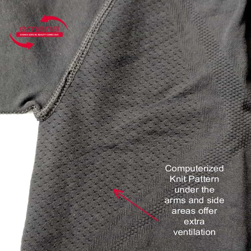 Closeup of Underarm Ventilation design on Infrared Tee Shirt by FIRMA