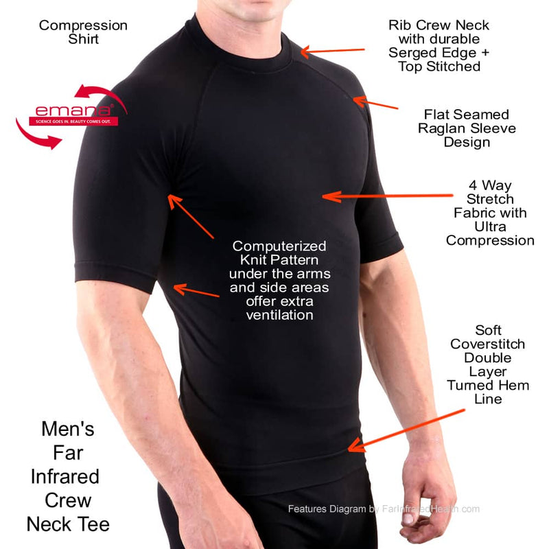 Features of the Circulation Active Crew Neck Infrared T-Shirt for Men