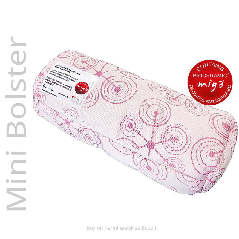 Mini Bolster Energy Pillow by Invel (Bioceramic) Neck & Leg Pillow