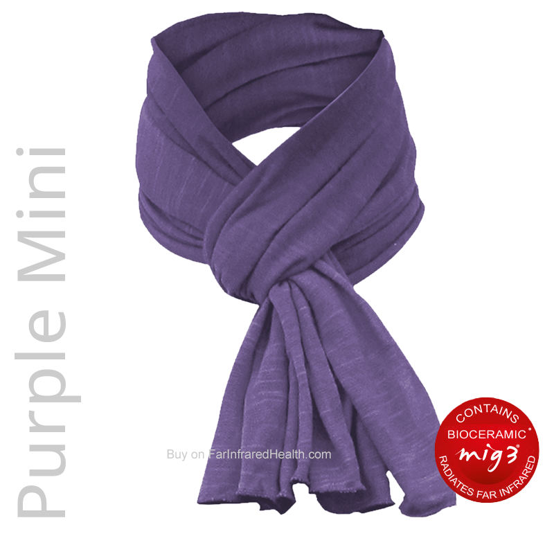 Purple Bioceramic Far Infrared Mini Scarf for Neck Pain Relief