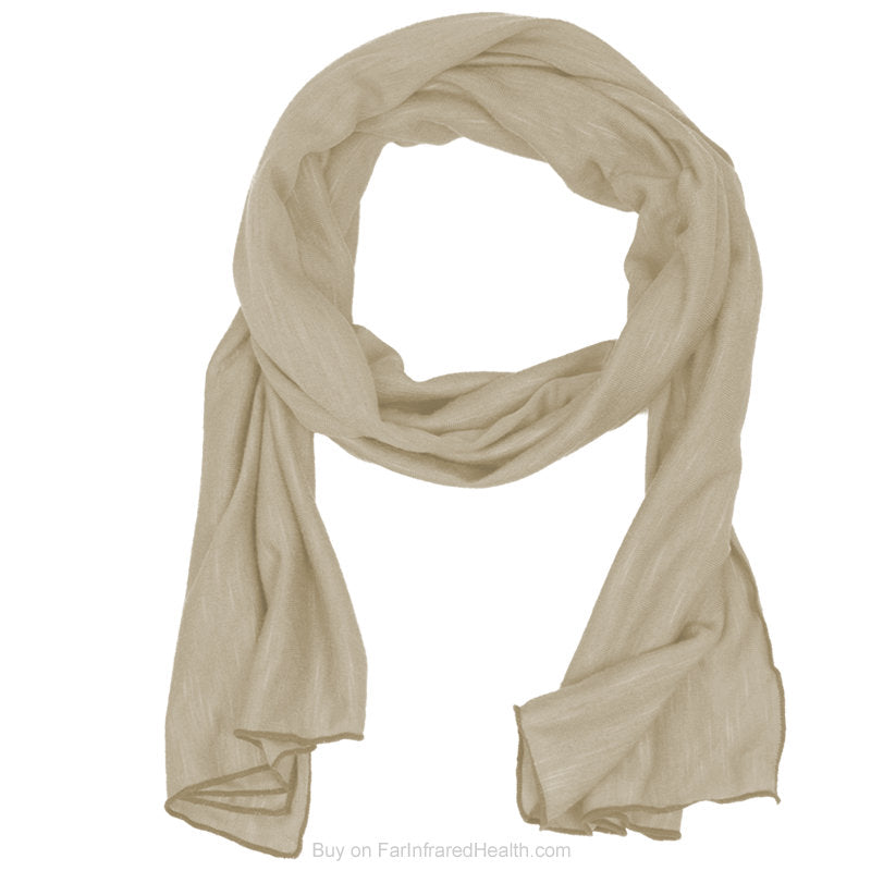 Beige Invel® Actiive Far Infrared Scarf for Neck Pain - Reduce tension headaches