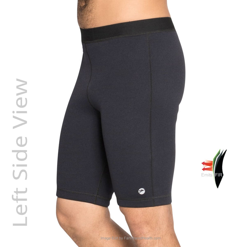 Bio-Ceramic Neoprene Shorts for Men - Left Side View - Delfin