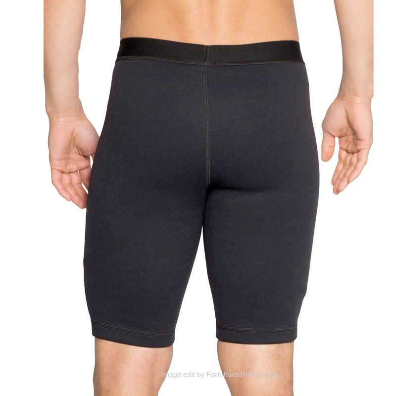 Neoprene Shorts - Men | Bio-Ceramic Compression Shapewear Body Toning Back Side