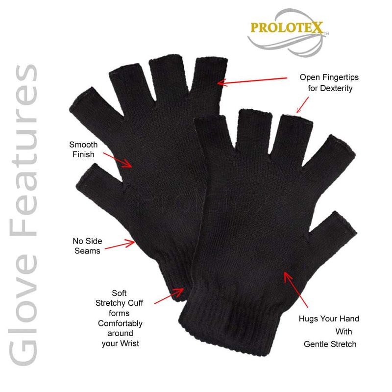 Features - OPEN FINGERTIP Stretchy Far Infrared Gloves