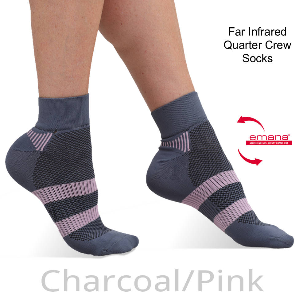 Circulation Infrared Quarter Crew Sports Sock