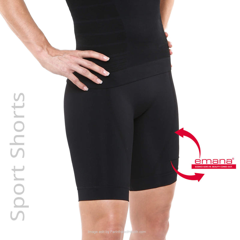 Circulation Infrared Sport Shorts for Women - Emana Fiber - Sport Recovery Wear