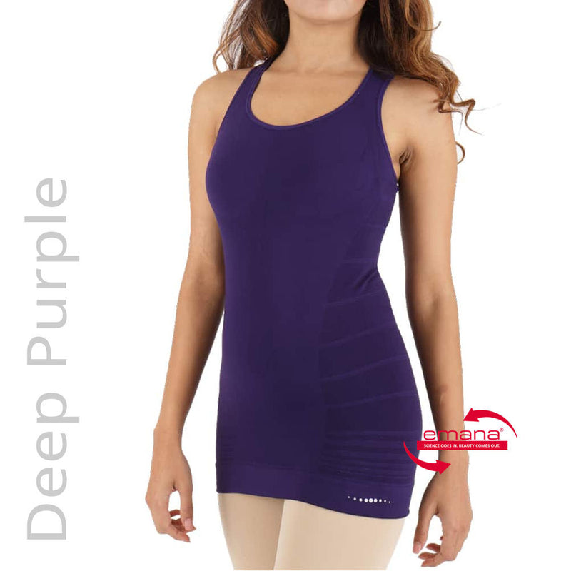 Deep Purple Sporty Tank Top with Built in Bra Shelf - Infrared