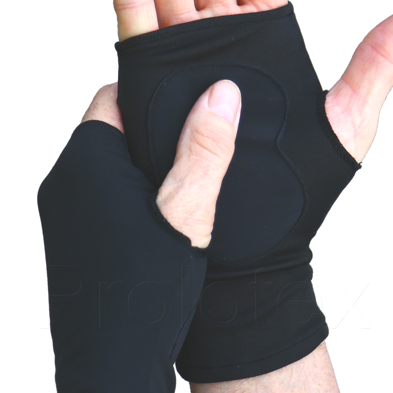 Black Far Infrared WRISTA GLOVES With Palm Grips