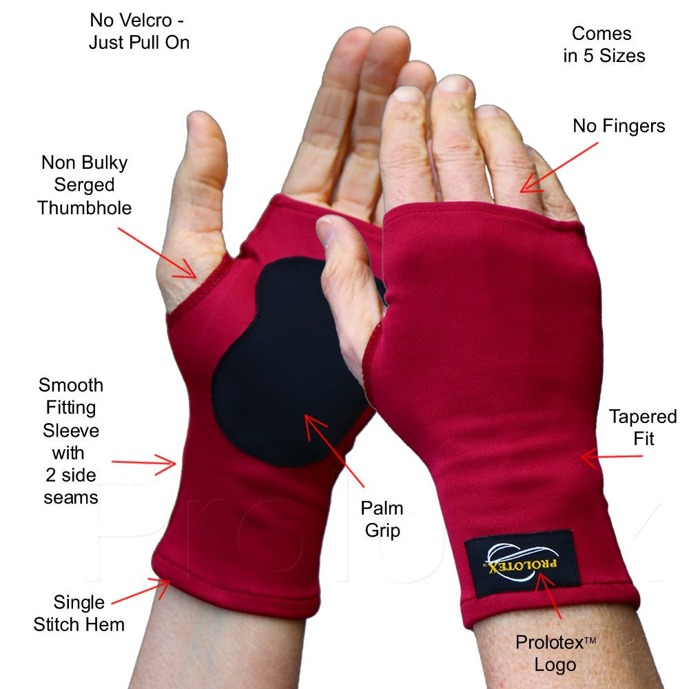 Features - No Finger Palm Grip WRISTA GLOVES