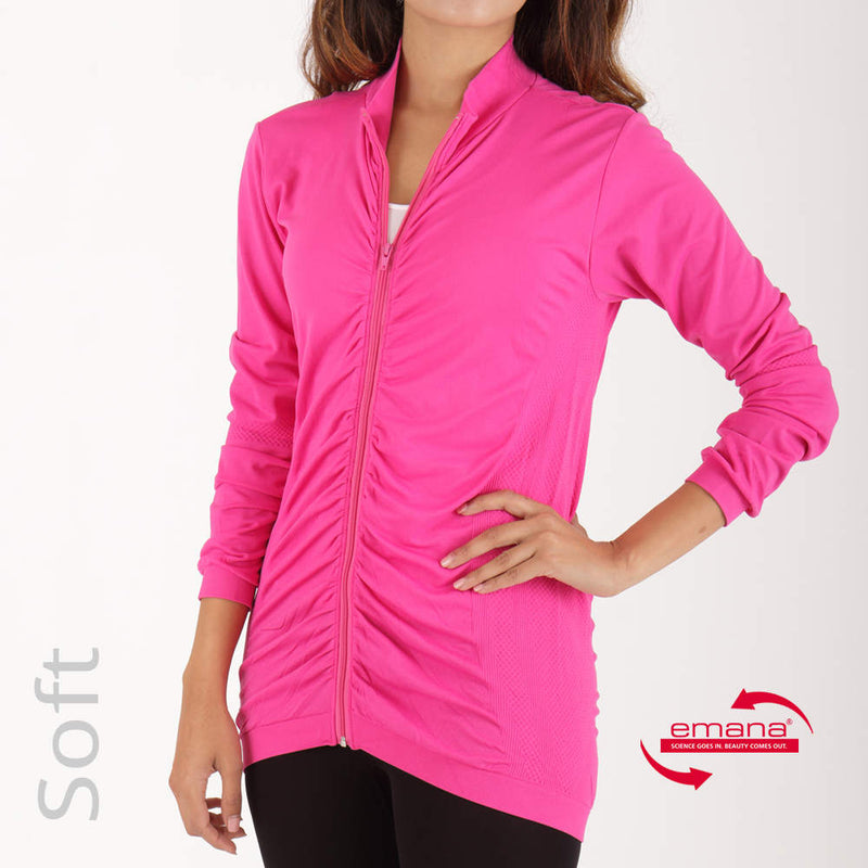 so Soft Ladies Infrared Ruched Zip Jacket
