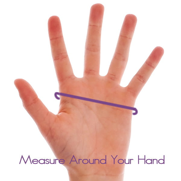 Measure around your hand for size of Pain Relieving Arthritis Gloves