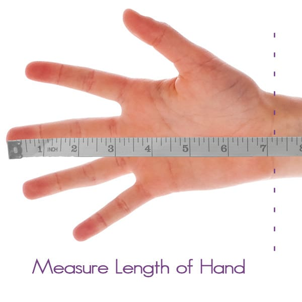 Measure length of hand for the Stretchy Raynaud's Far Infrared Health  Gloves