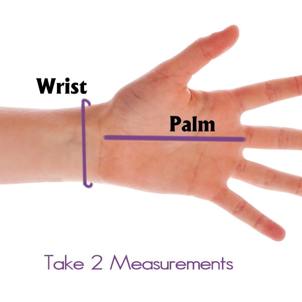 How to Measure hand for OPEN FINGERTIP Stretchy Far Infrared Gloves