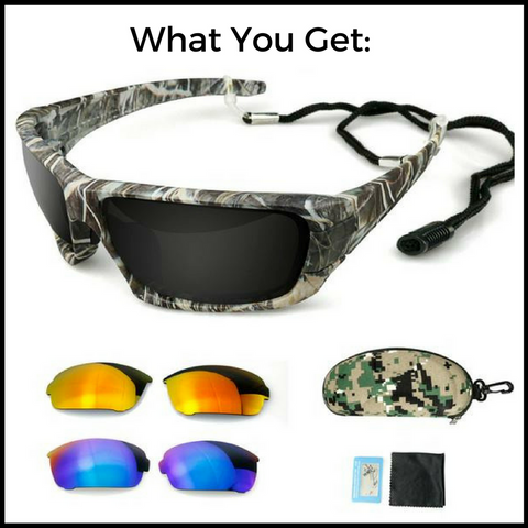 Grizzly Fishing Pro Sunglasses Kit (3 Lenses)