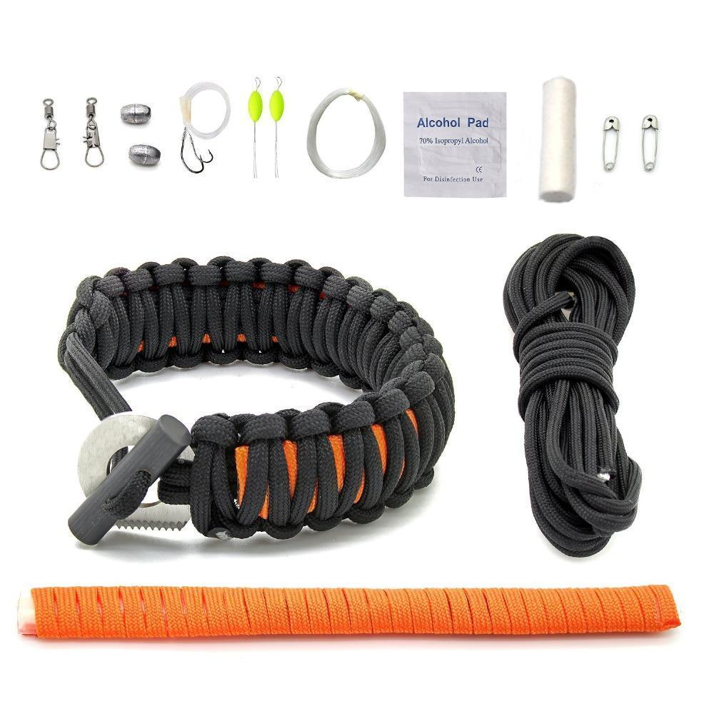 Grizzly Fishing 10 in 1 Grizzly Fishing Survival Bracelet