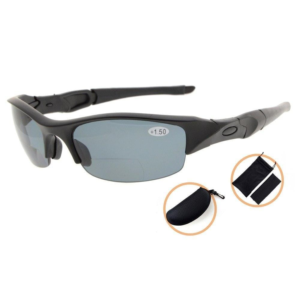 Grizzly Fishing +150 / Shiny Black Professional Bifocal Fishing Sunglasses