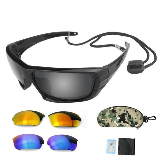 Grizzly Fishing Black Grizzly Fishing Pro Sunglasses Kit (3 Lenses)