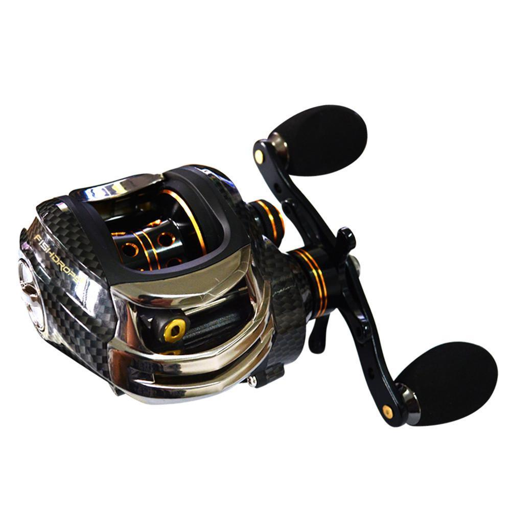 Grizzly Fishing Fishing Reel Fishdrops - The World's Lightest Carbon Fiber Baitcasting Reel