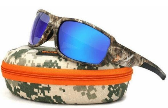 Grizzly Fishing Fishing Sunglasses Blue / Camo Professional Polarized Fishing Glasses ($10 OFF)