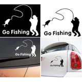 Grizzly Fishing Vinyl Go Fishing Sticker