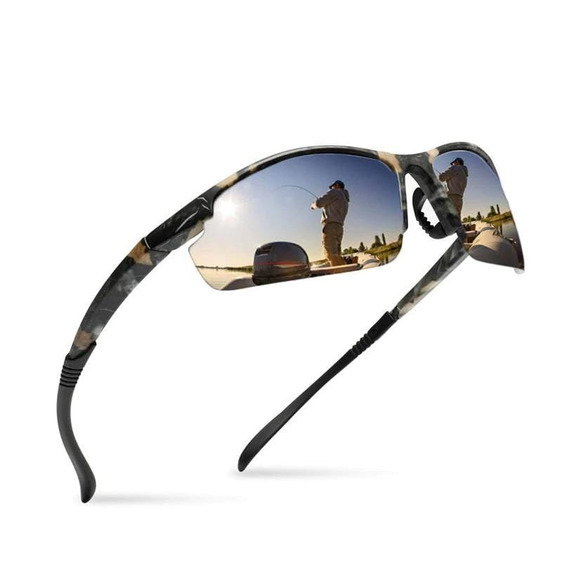 OUTSUN Official Store Camo Blue Ultra-Light Pro Fishing Sunglasses