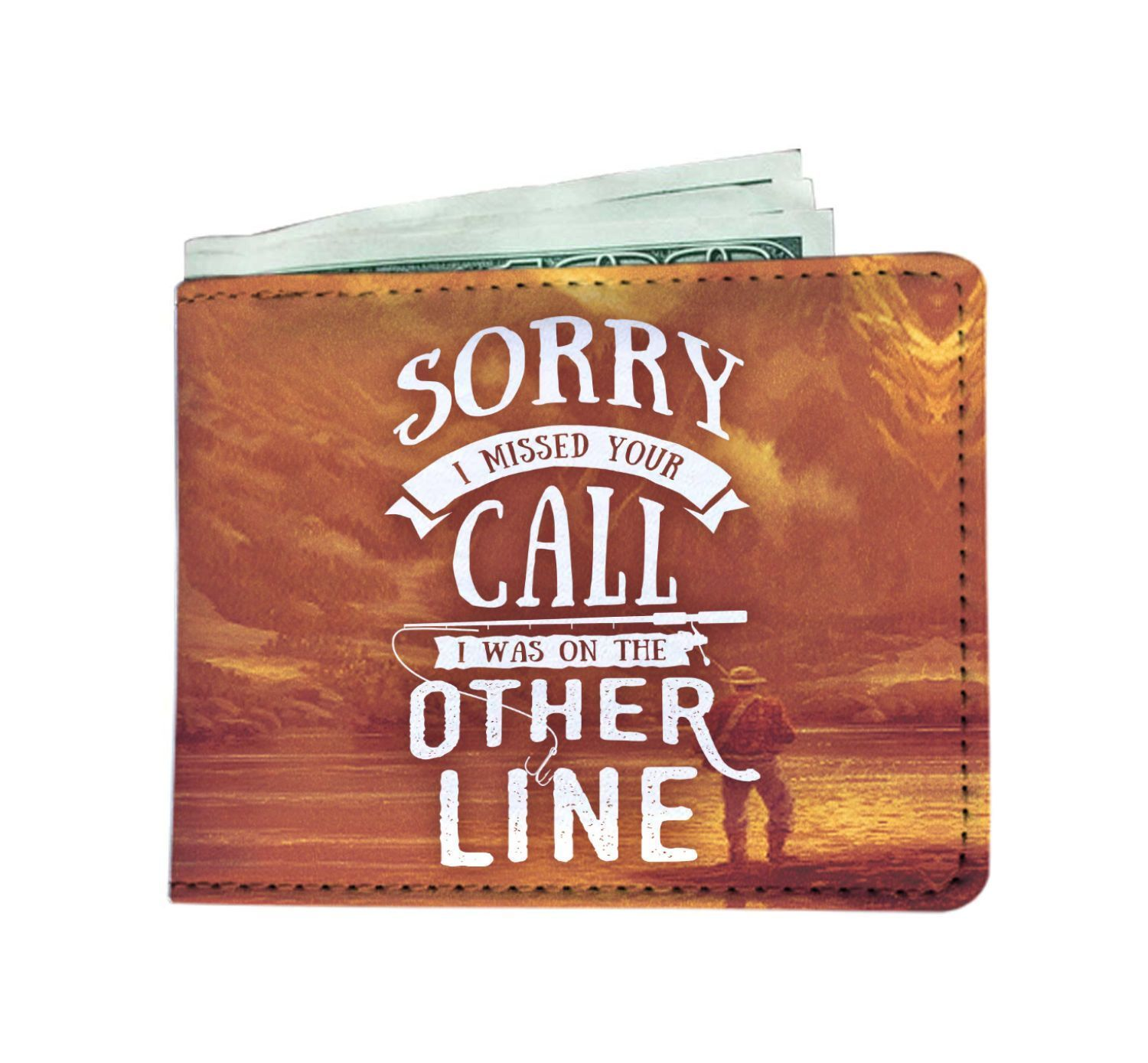 "wc-fulfillment Mens Wallet ""I Was On The Other Line"" Men's Wallet"