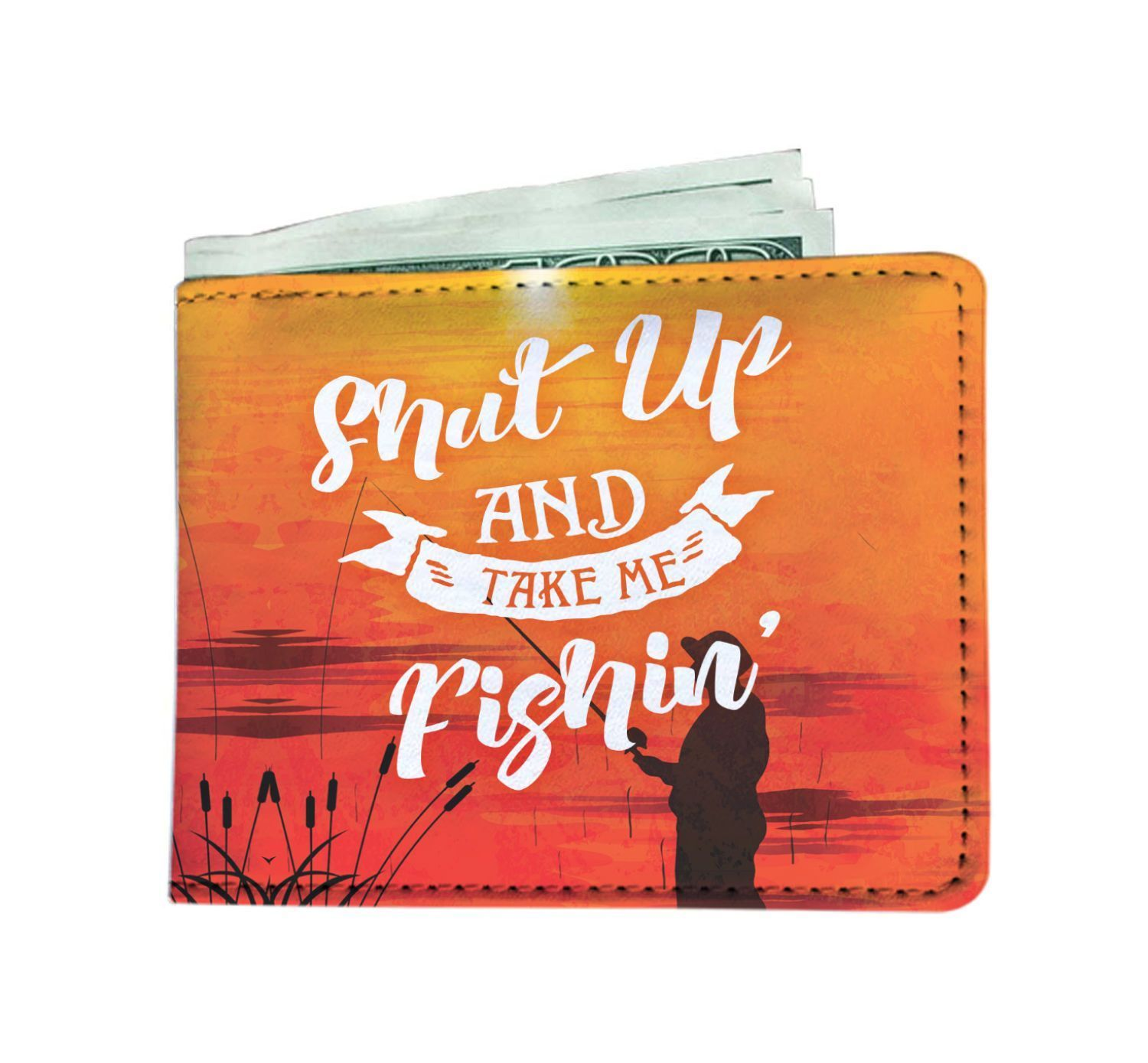 "wc-fulfillment Mens Wallet ""Shut Up And Take Me Fishing"" Men's Wallet"