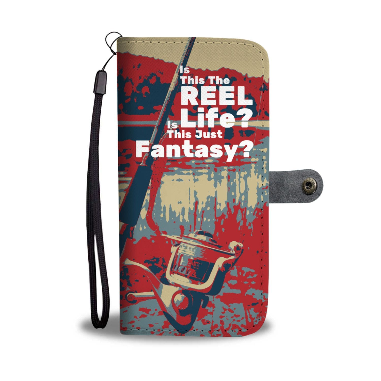 "wc-fulfillment Wallet Case ""Is this the REEL life"" Wallet Phone Case"