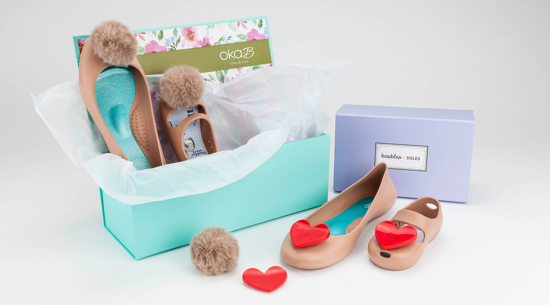 Mommy and Me shoes gift set by Oka-B and Baubles and Soles