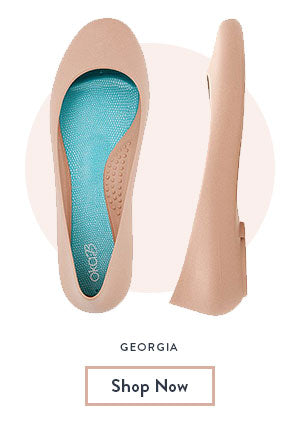 georgia ballet flat travel shoe Oka-b