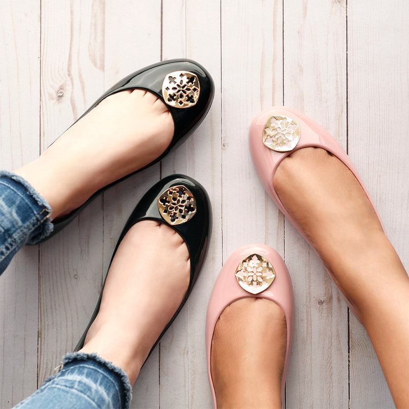 Ainsley Shiny Ballet Flat