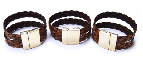 Dark Brown Braided Bracelet