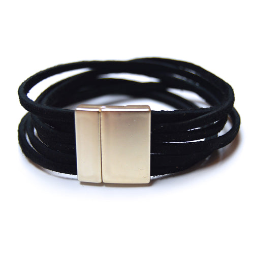 Soft Black Suede Bracelet