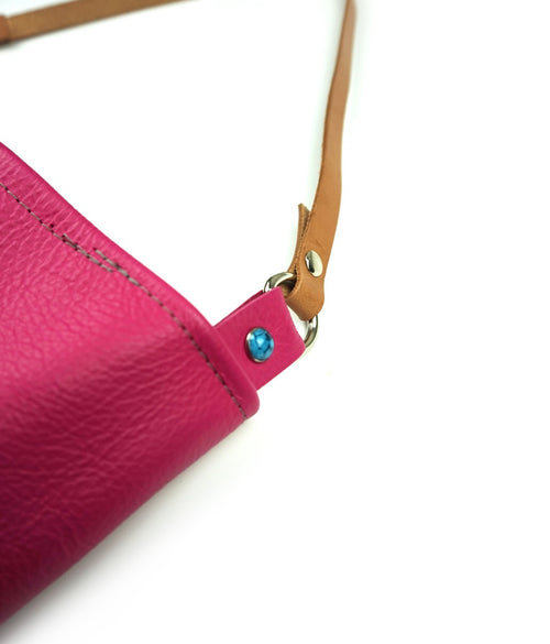 Pretty Pink Leather Tote