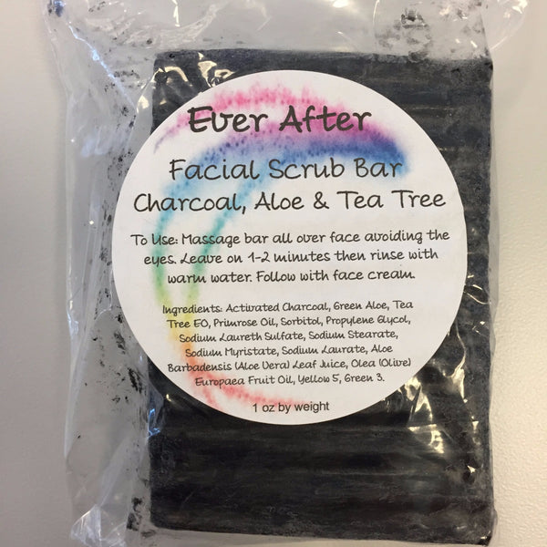 Charcoal, Aloe, and Tea Tree Facial Scrub Bar