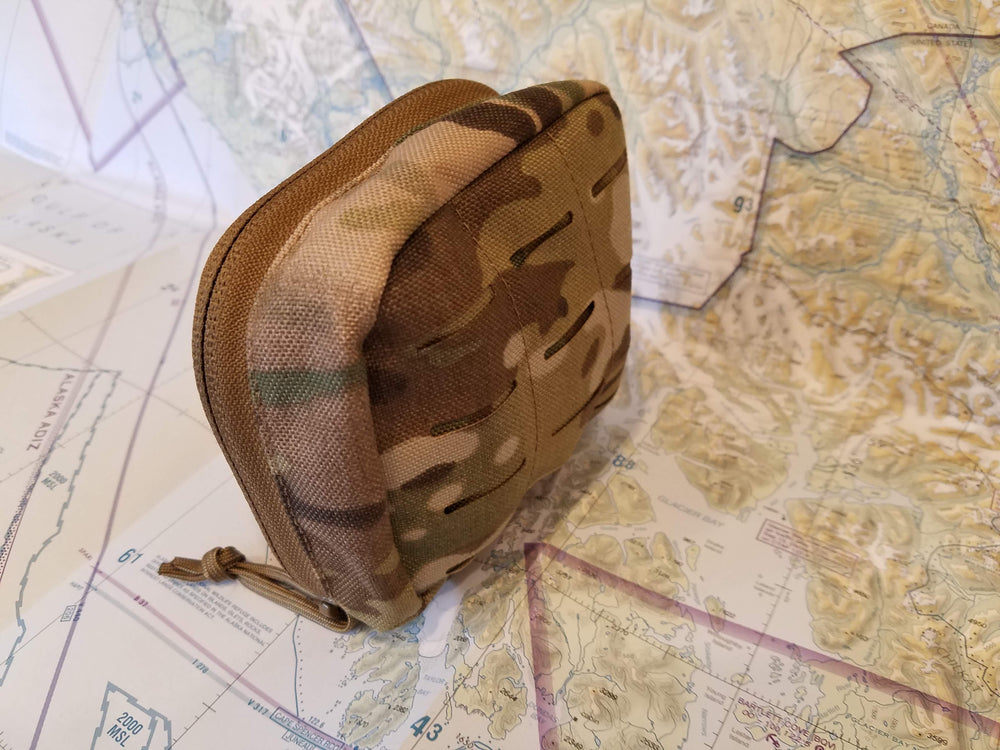 arc light power station multicam nylon molle case on topo map