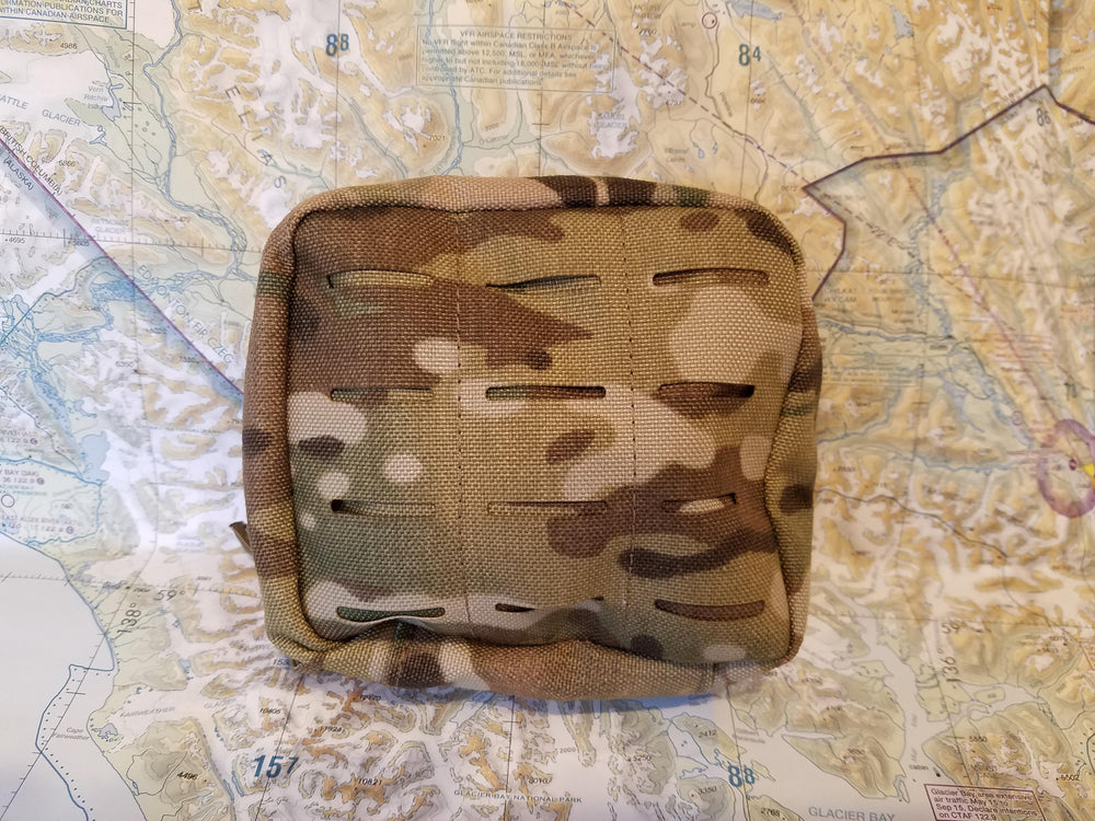 multicam nylon molle pouch for ARC power station on topo map