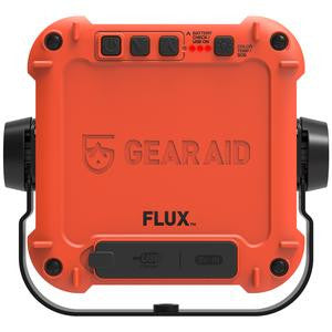 Rear facing orange Gear Aid Flux power station and light