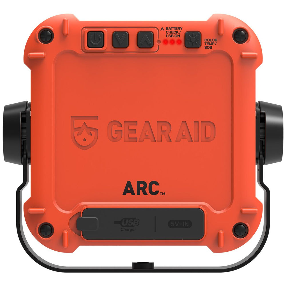 Orange rear facing arc light power station